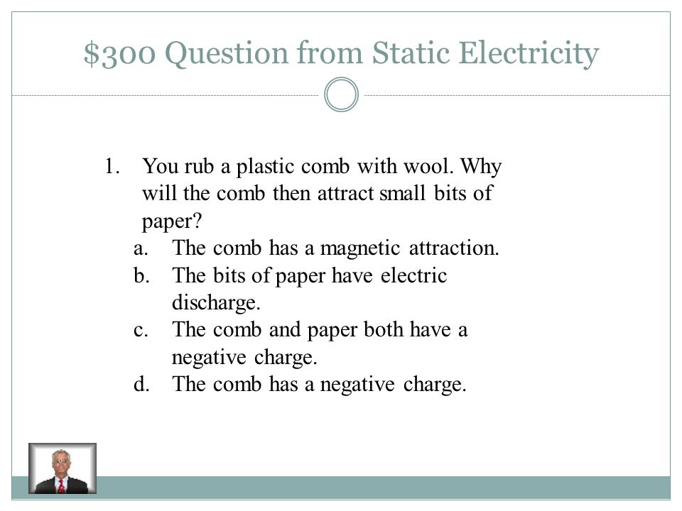 $200 Answer Static Electricity Lightning