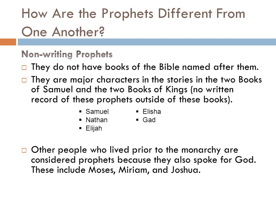 who were the non writing prophets of the northern kingdom