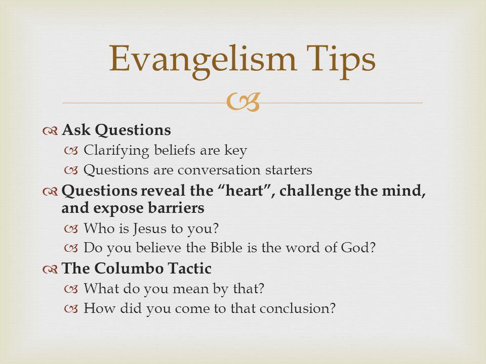 christian conversation questions