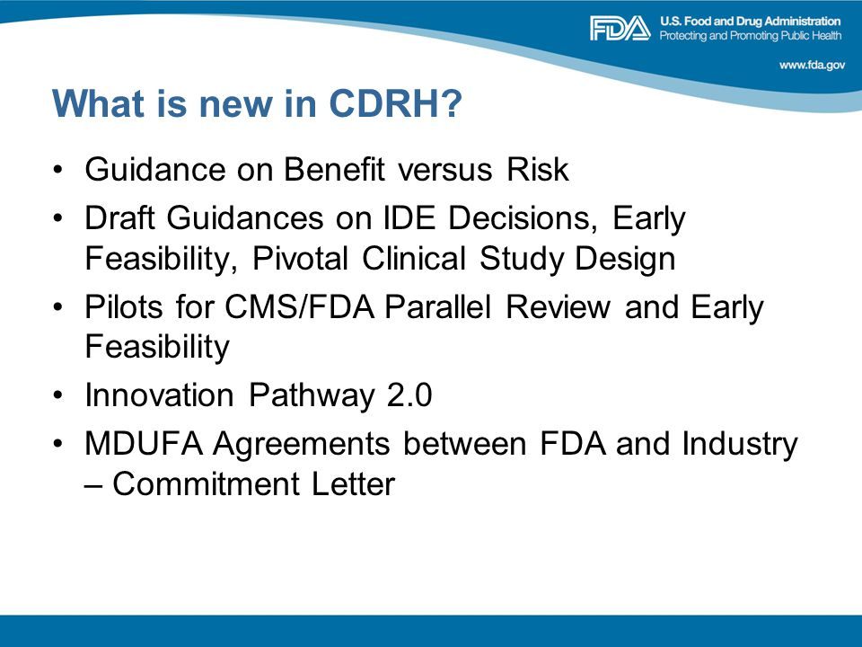 What is new in CDRH.
