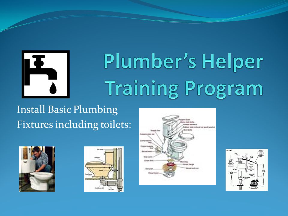 Install Basic Plumbing Fixtures including toilets:
