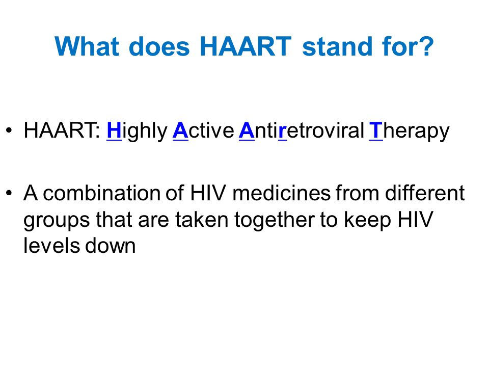 What does HAART stand for.