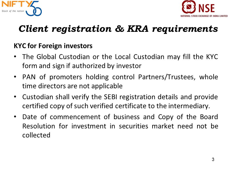1 Compliance Requirements November 27, Client registration & KRA