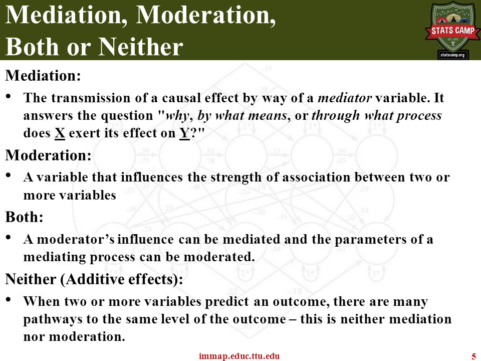 Mediation and Moderation It's a multivariate world out there… Todd D