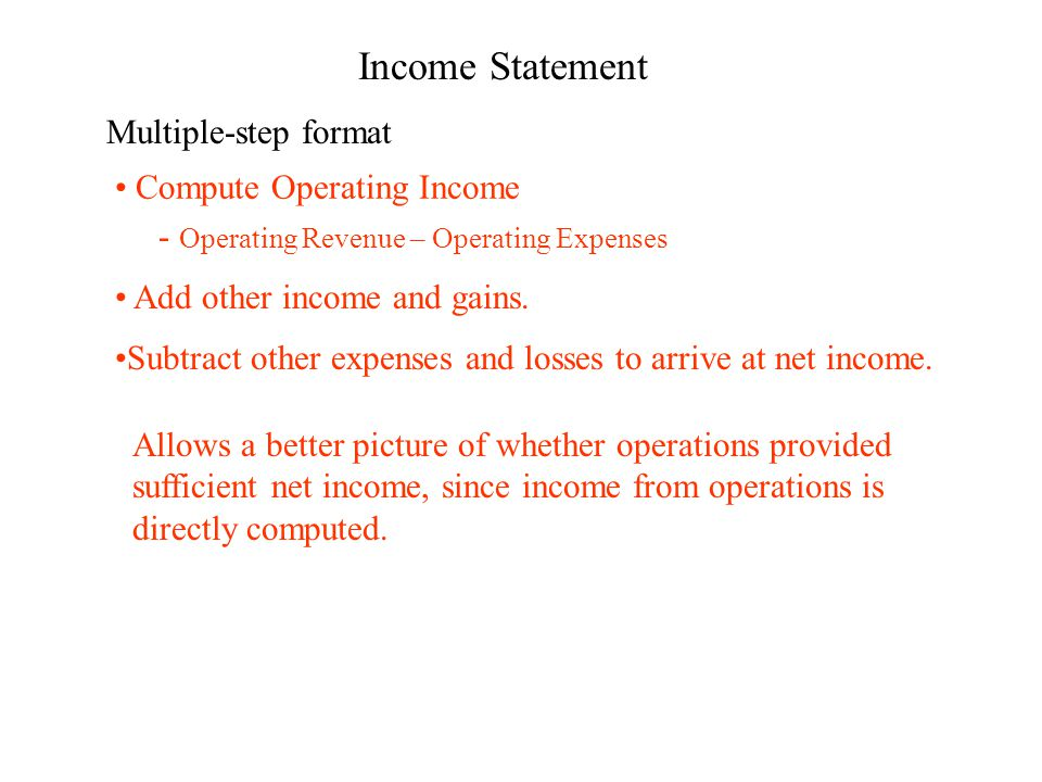 3 income statement multiple step