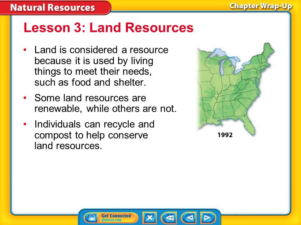Key Concepts 2 Lesson 2: Renewable Energy Resources Renewable energy resources include solar energy, wind energy, water energy, geothermal energy, and biomass energy.