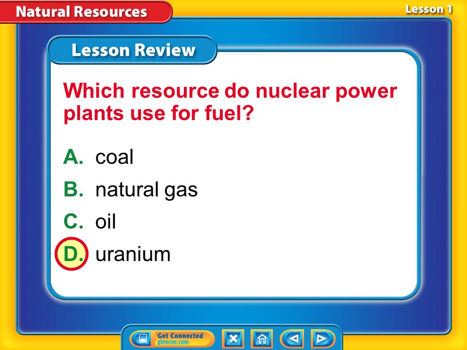 Lesson 1 - VS It is important to manage nonrenewable energy resources wisely.