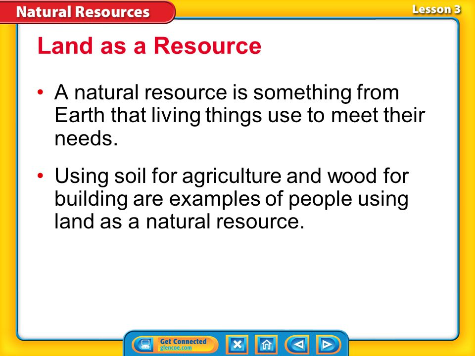 Lesson 3 Reading Guide - Vocab ore deforestation Land Resources