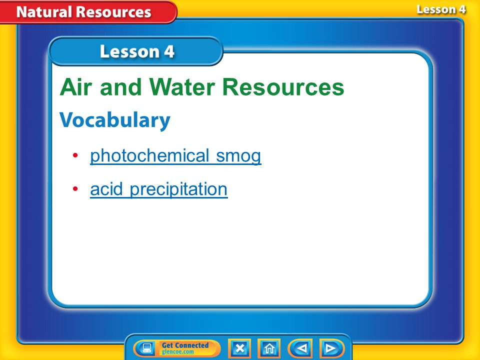 Lesson 4 Reading Guide - KC Why is it important to manage air and water resources wisely.