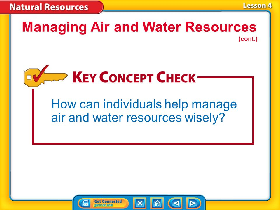 Lesson 4-2 You can reduce water pollution by properly using and disposing of harmful chemicals.