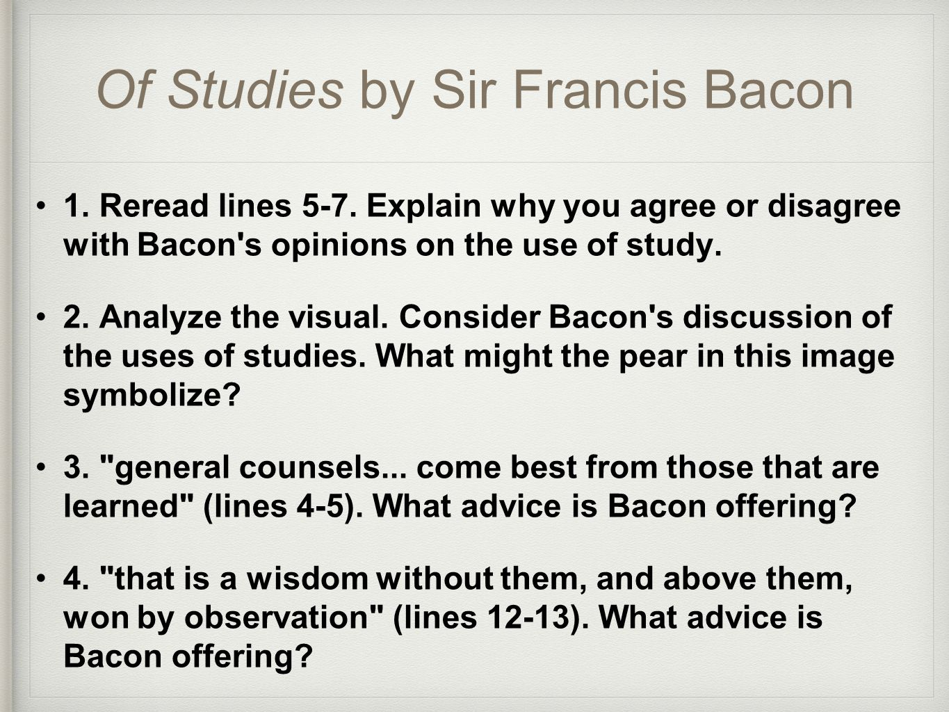 francis bacons essays summary