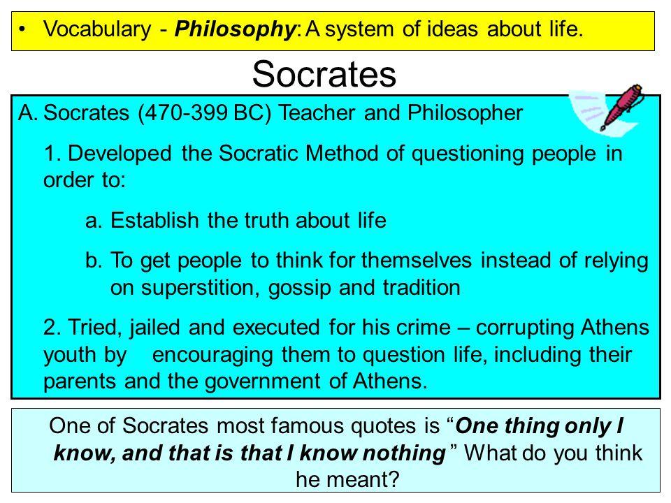 philosophical ideas of socrates