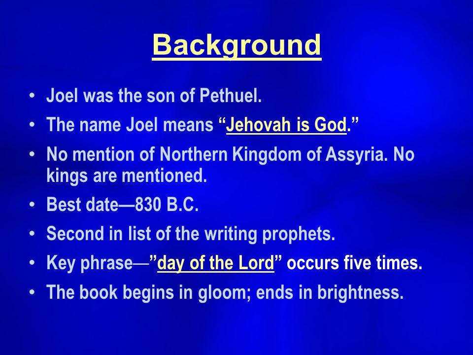 prophet joel background