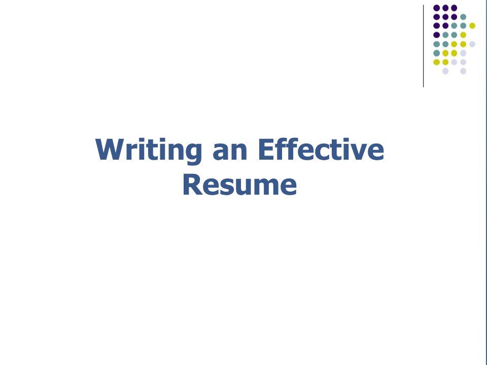 How to Write The Perfect Resume Writing.