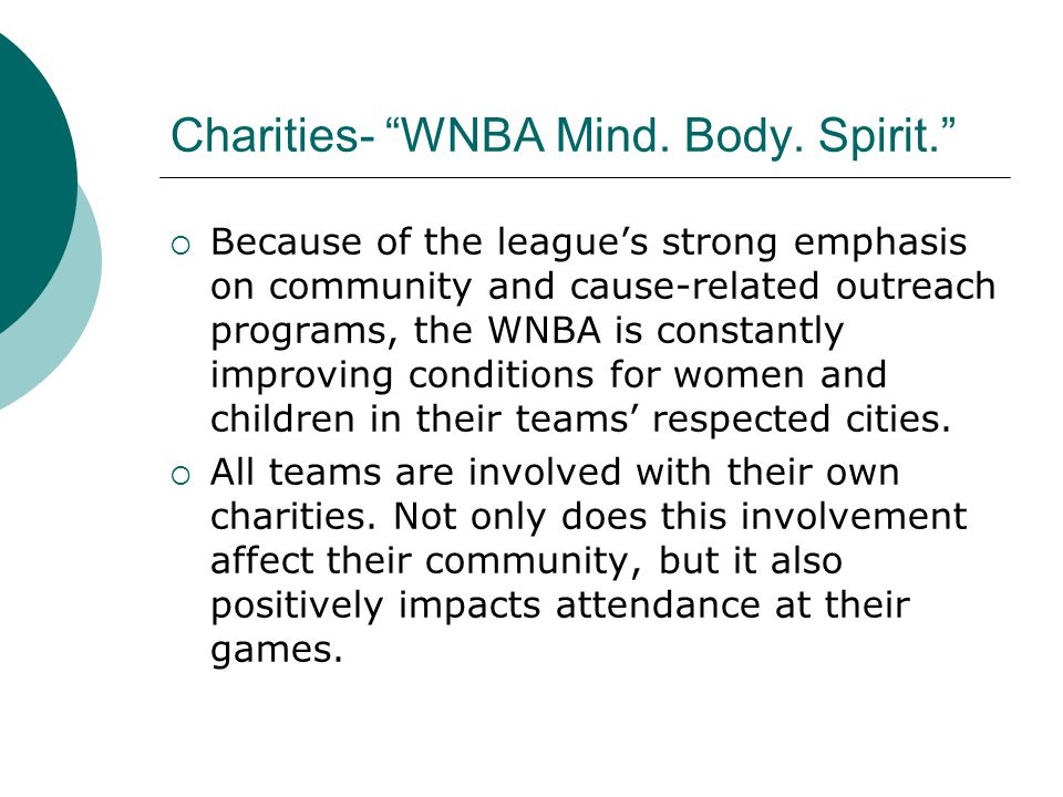 Charities- WNBA Mind. Body.