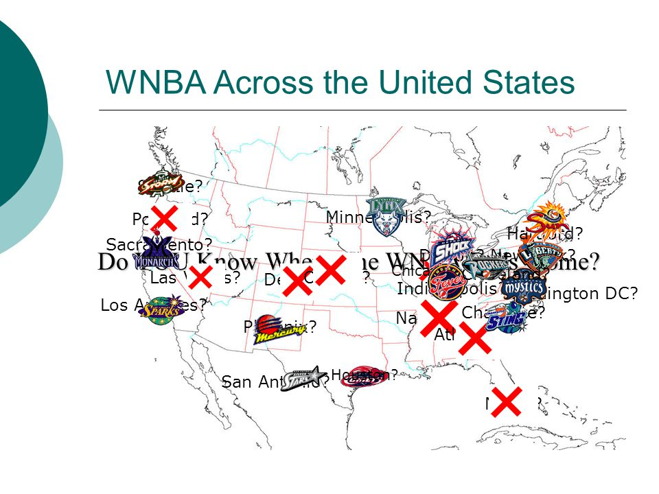 WNBA Across the United States Do YOU Know Where The WNBA Calls Home.