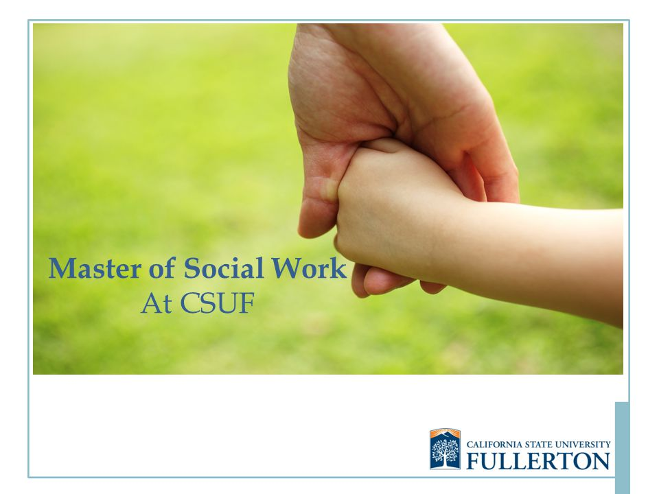 Master of Social Work At CSUF