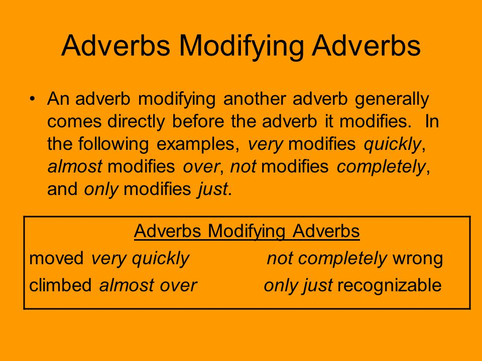 Adverbs Welcome To Grammapalooza Adverbs An Adverb Is A Word That