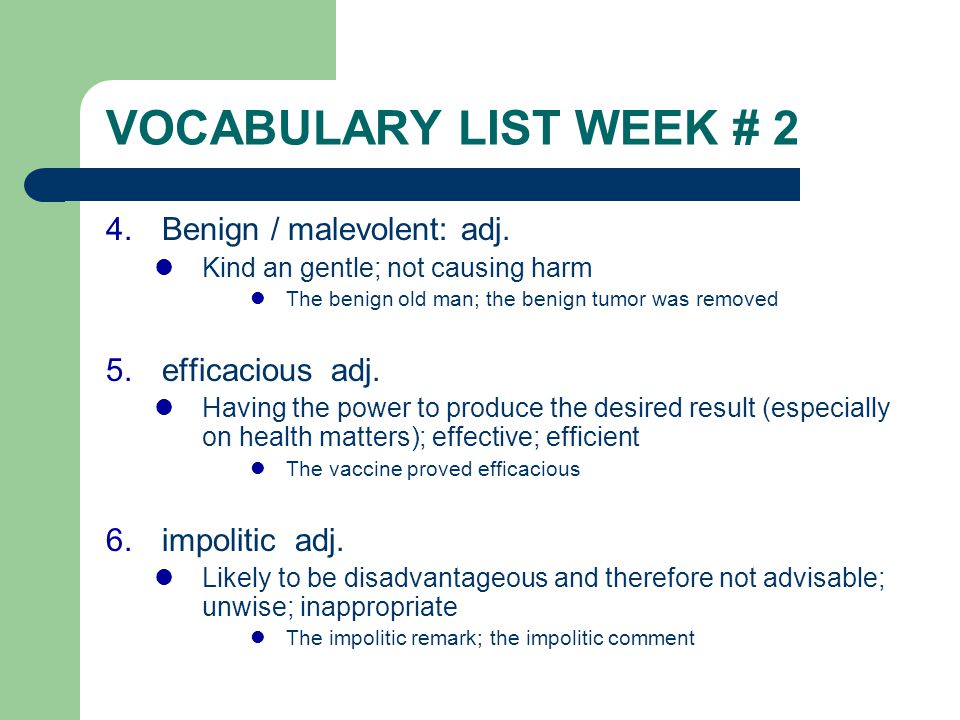 VOCABULARY LIST WEEK # 2 1 alacrity n  Promptness