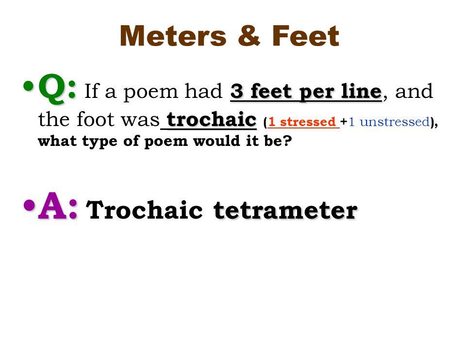 A trochaic foot