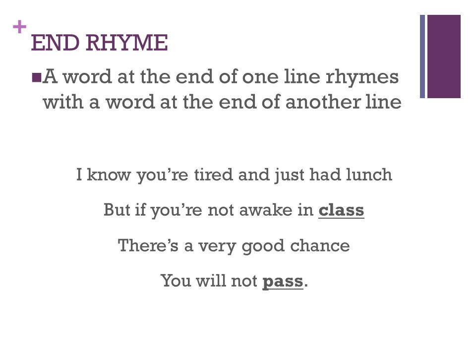 SHAKESPEARE AND LANGUAGE. + 1 December 2010: Do Now END RHYME ...