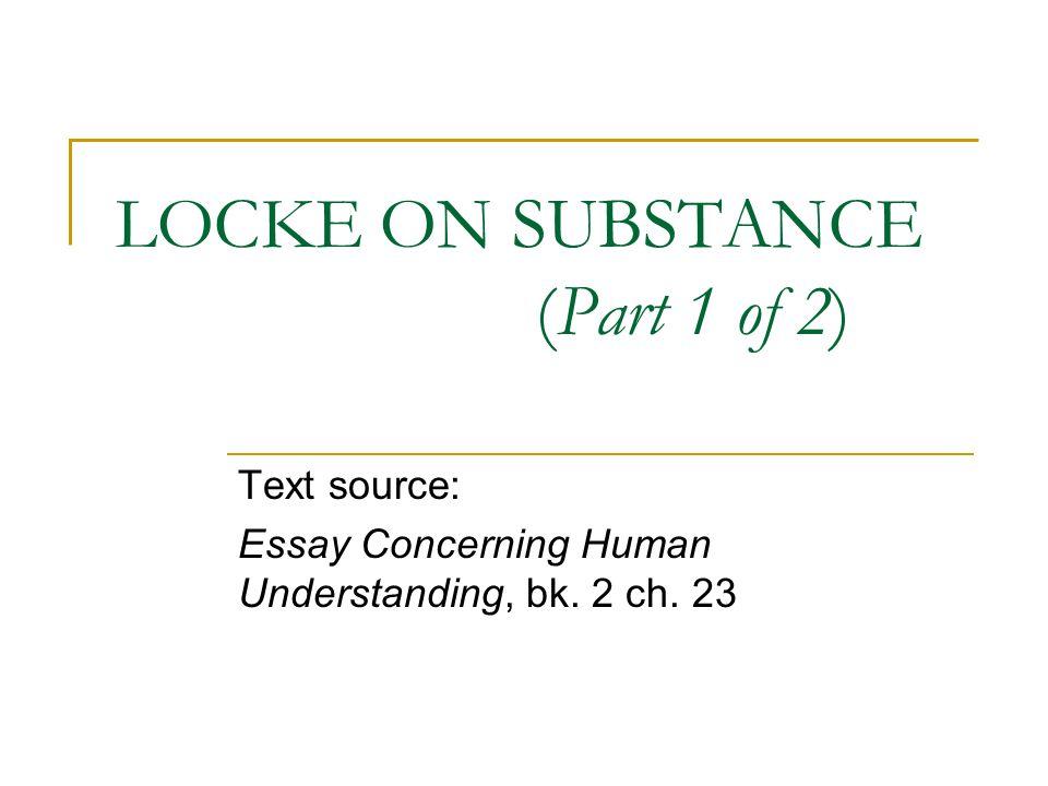 locke an essay concerning human understanding book 2 chapter 1 summary