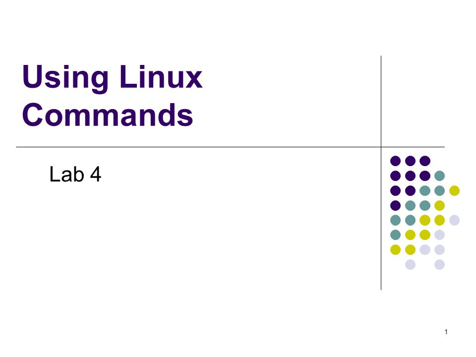 Using Linux Commands Lab 4 1