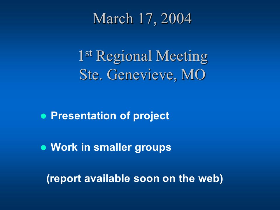 March 17, st Regional Meeting Ste.