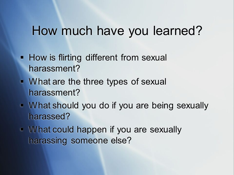 Sexual harassment three types