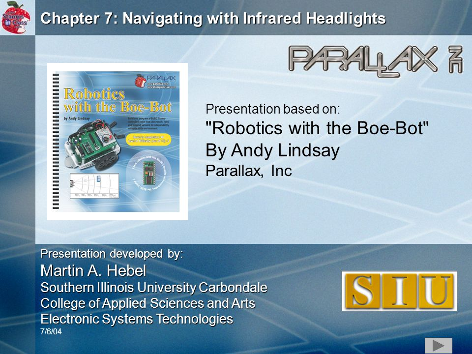 1 chapter 7 navigating with infrared headlights presentation based