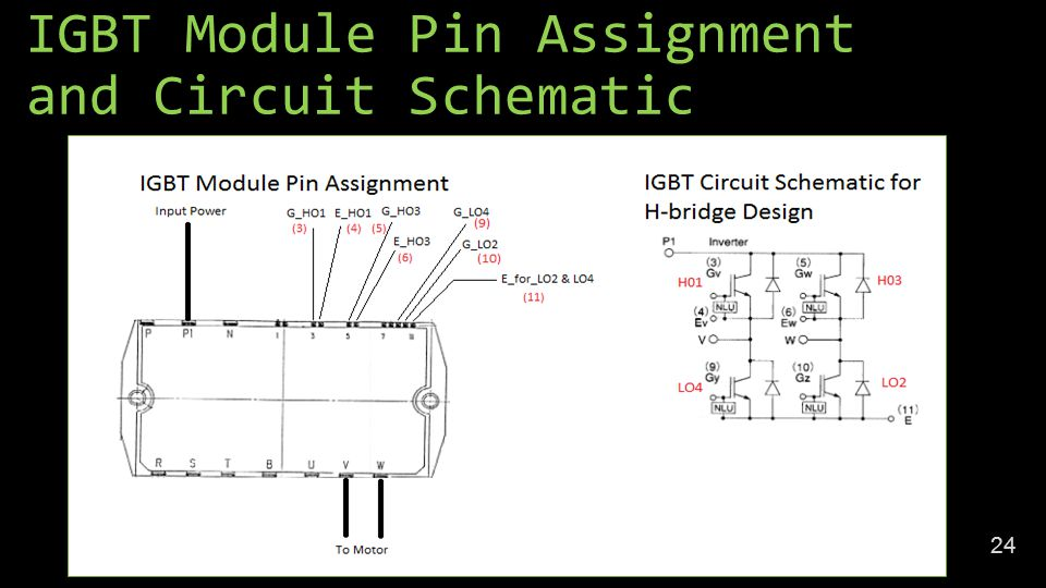 IGBT Module Pin Assignment and Circuit Schematic 24