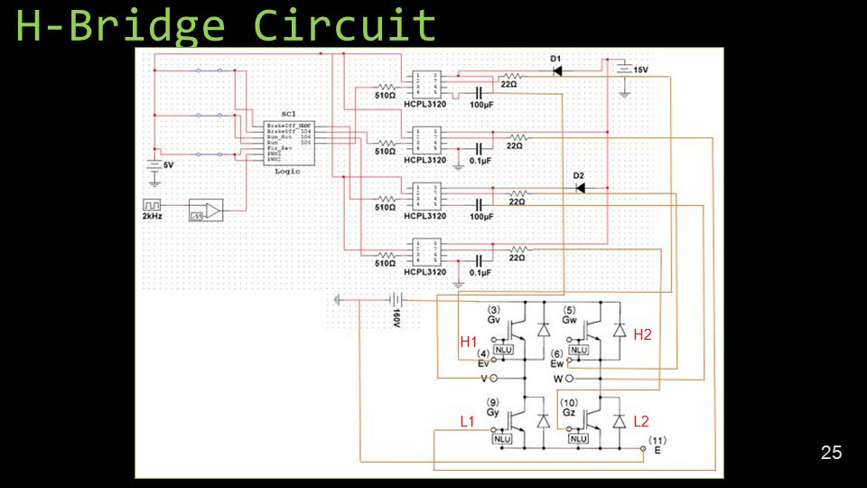 H-Bridge Circuit 25 H1 H2 L2L1