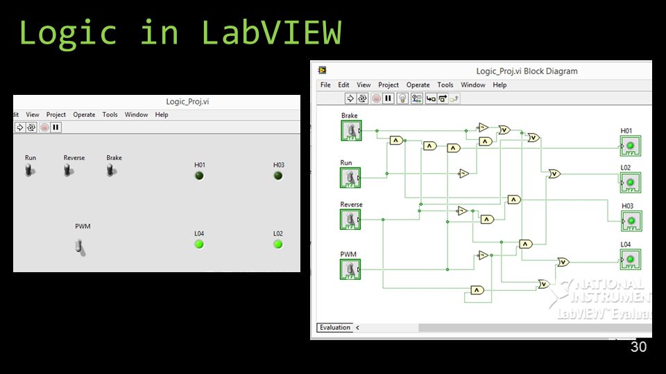 Logic in LabVIEW 30