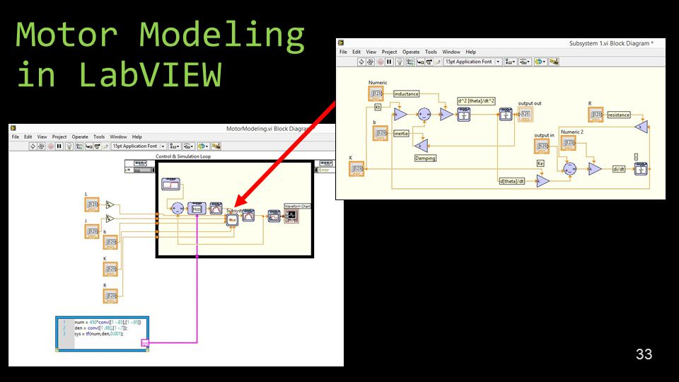 Motor Modeling in LabVIEW 33
