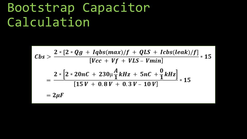 Bootstrap Capacitor Calculation