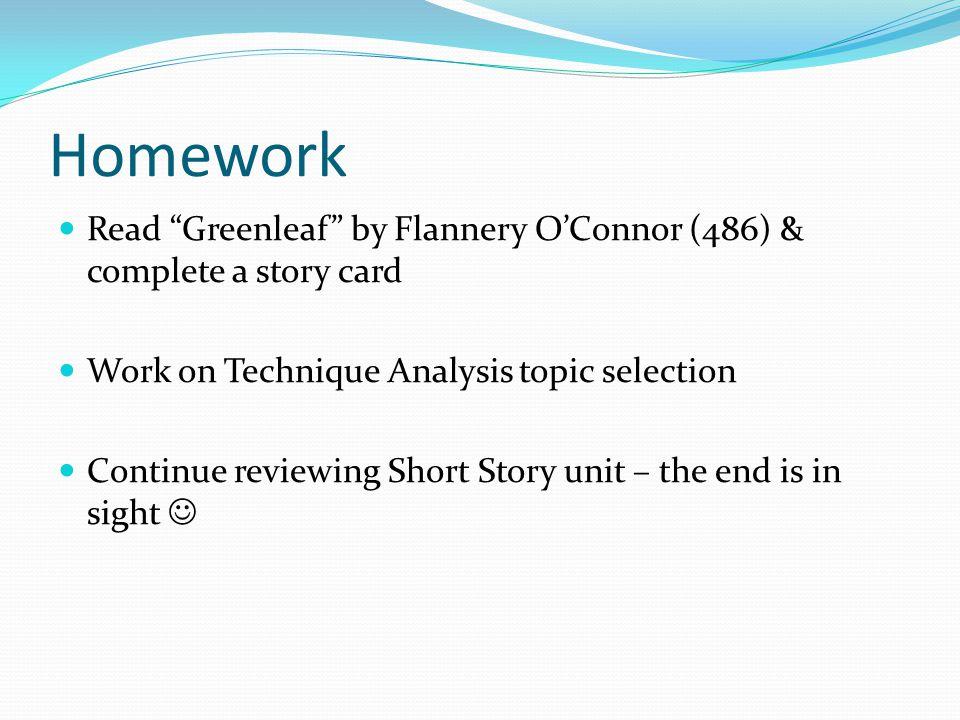 flannery o connor greenleaf analysis