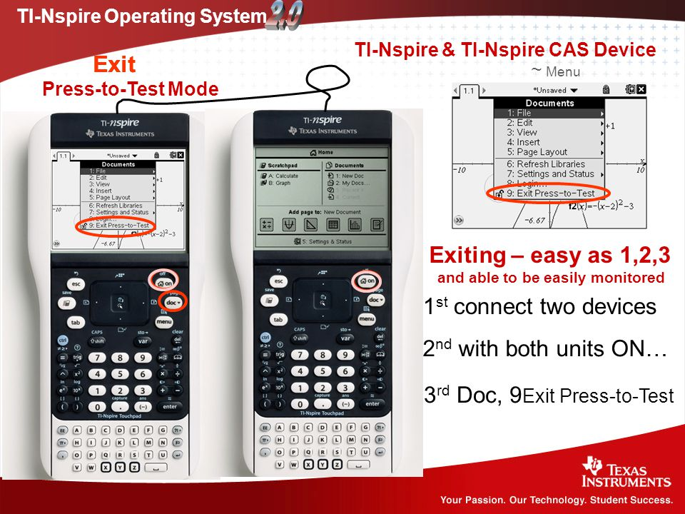 new products 6b67f d9286 Press-to-Test on the TI-Nspire Much of the following can be ...