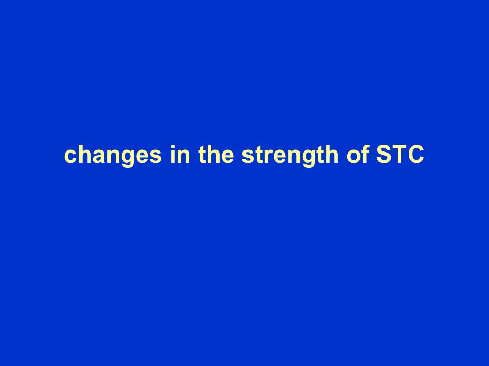 changes in the strength of STC
