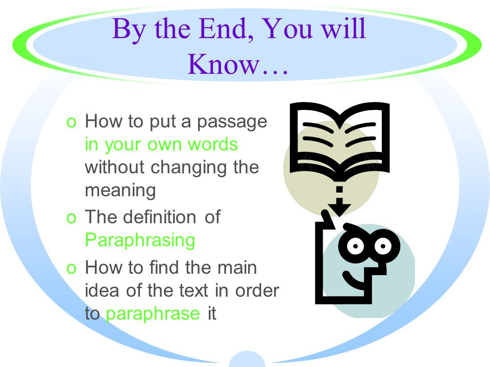 what is the correct definition of paraphrasing