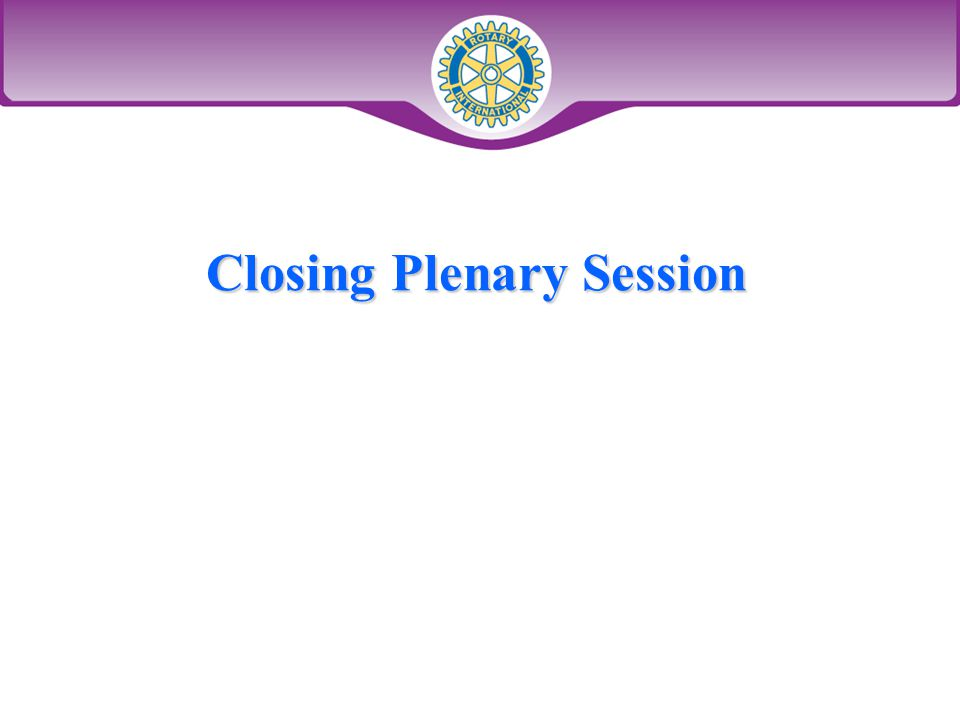 Closing Plenary Session