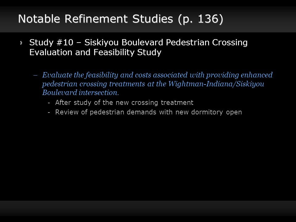Notable Refinement Studies (p.