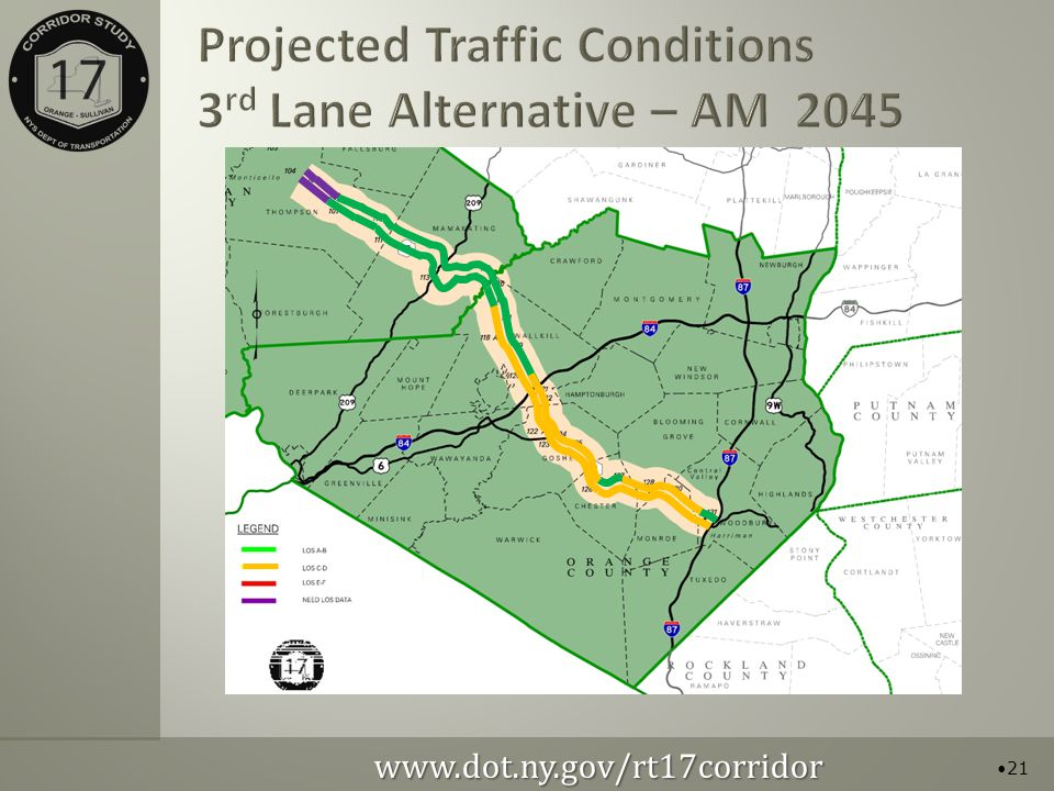 Projected Traffic Conditions 3 rd Lane Alternative – AM
