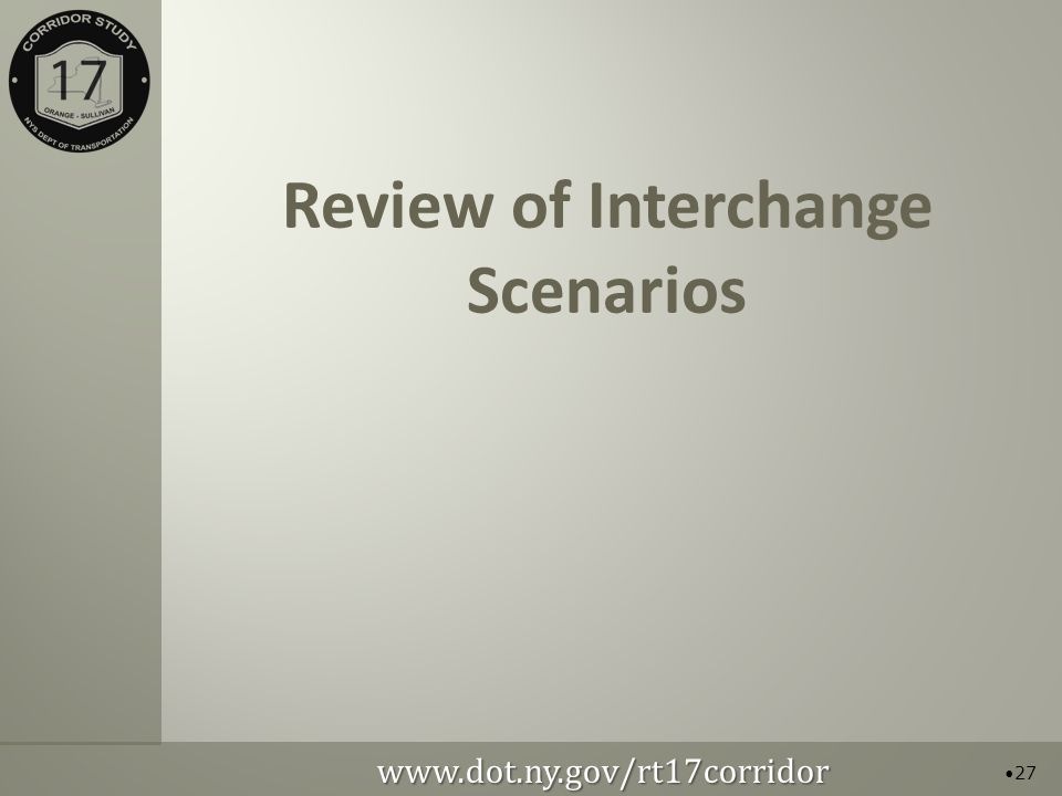 Review of Interchange Scenarios 27
