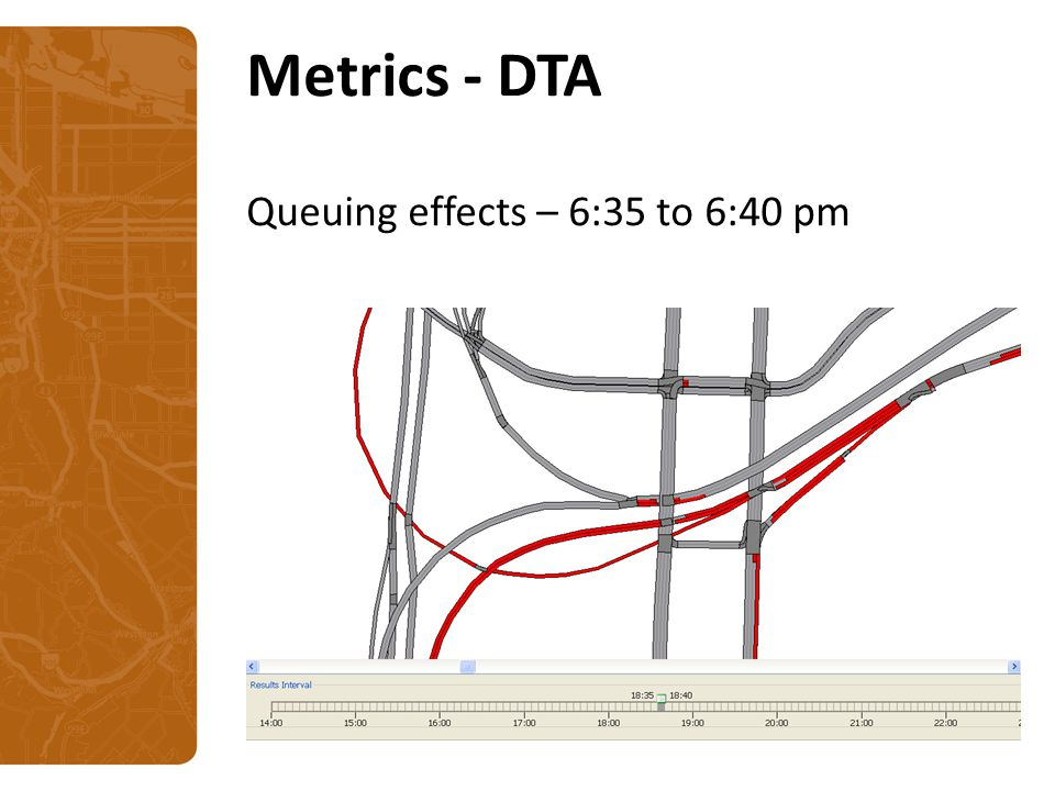 Metrics - DTA Queuing effects – 6:35 to 6:40 pm