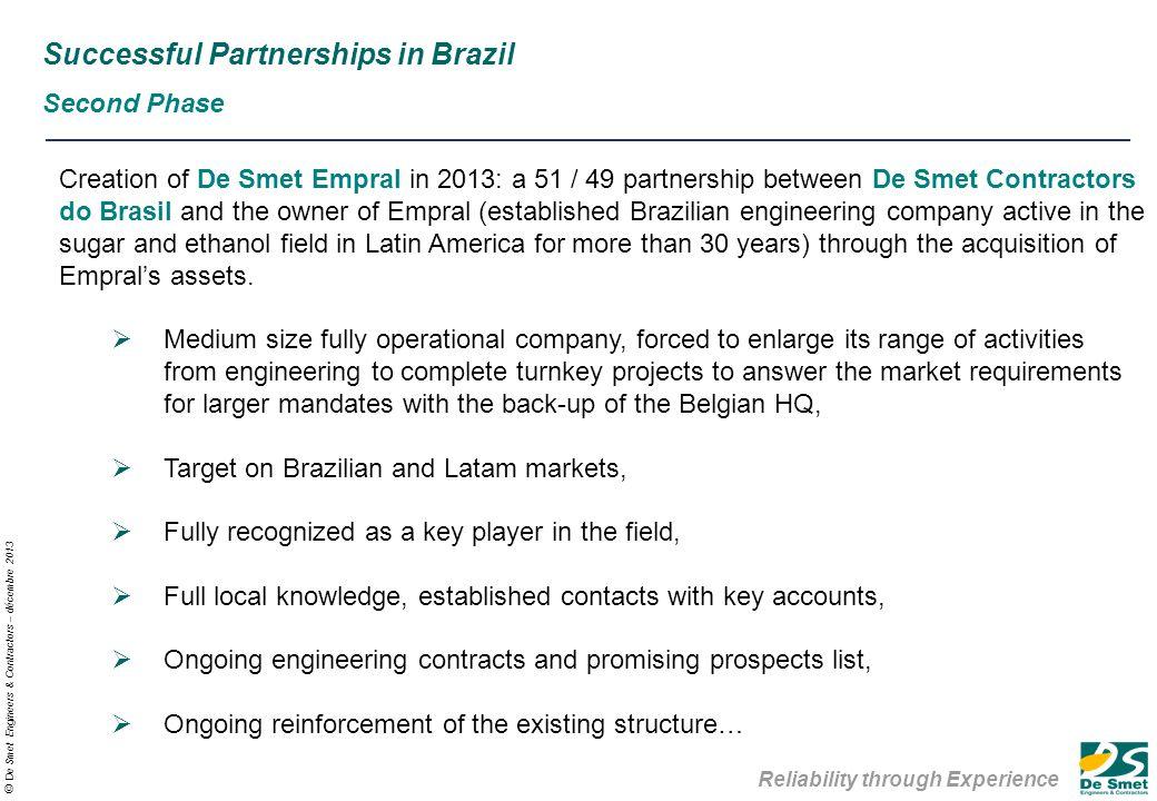 Reliability Through Experience De Smet Engineers Contractors