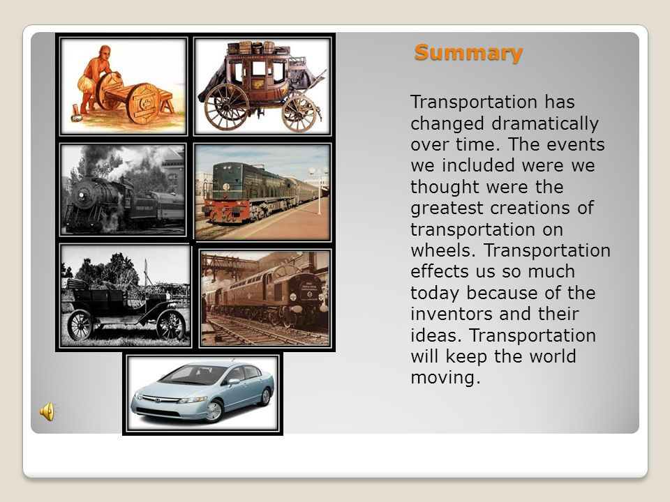 how has transportation changed over the years