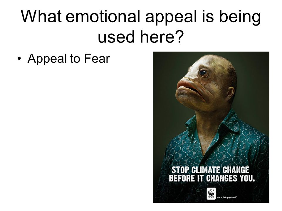 What emotional appeal is being used here Appeal to Fear 26