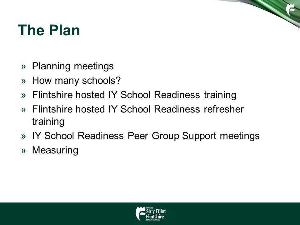 The Plan »Planning meetings »How many schools.