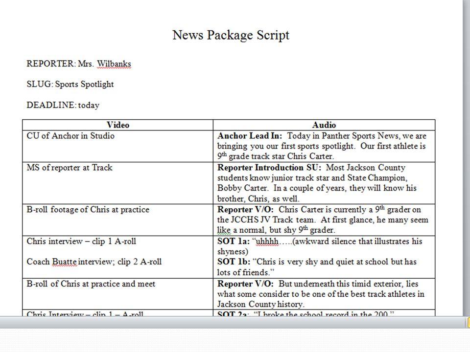 Tv News Script Example