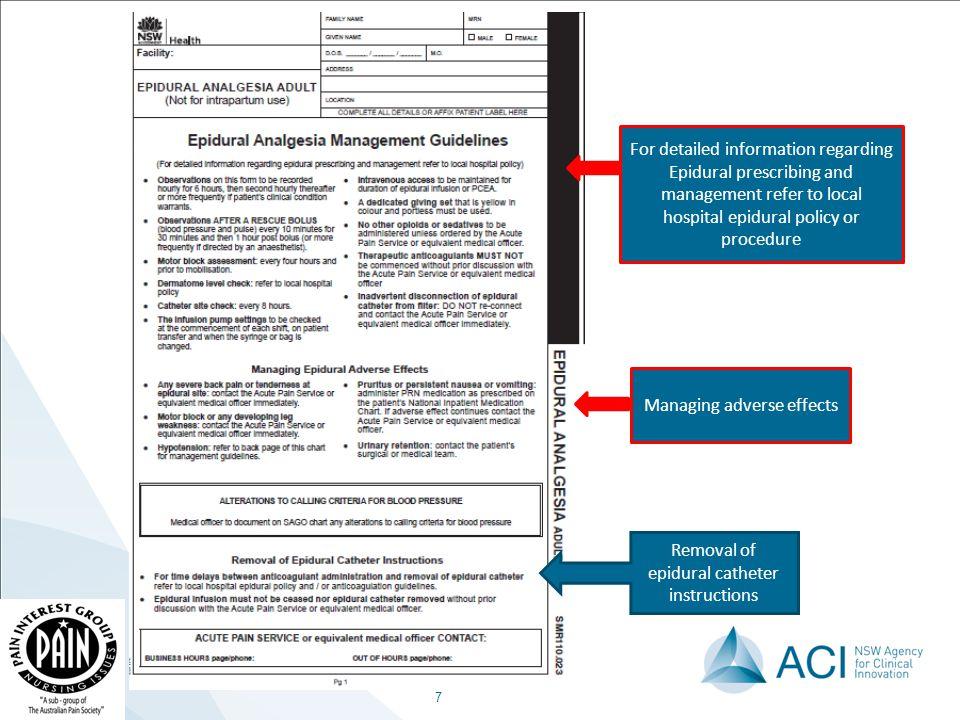 epidural analgesia chart adult education slide presentation a rh slideplayer com